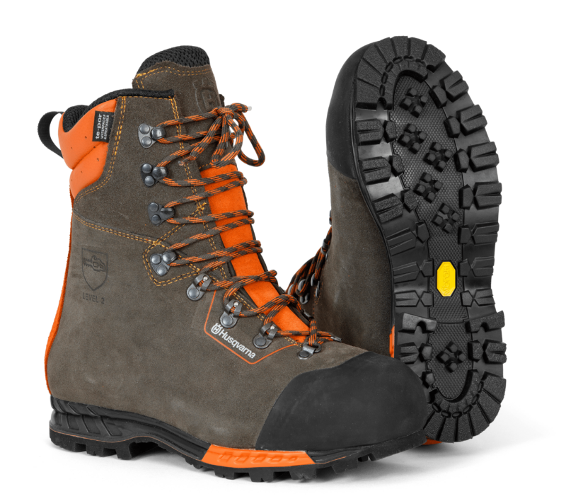 Protective leather boots with saw protection, Functional 24